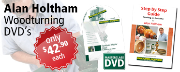 Record Power Woodturning DVDs by Alan Holtham